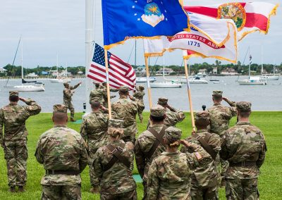 Florida National Guard flag raising